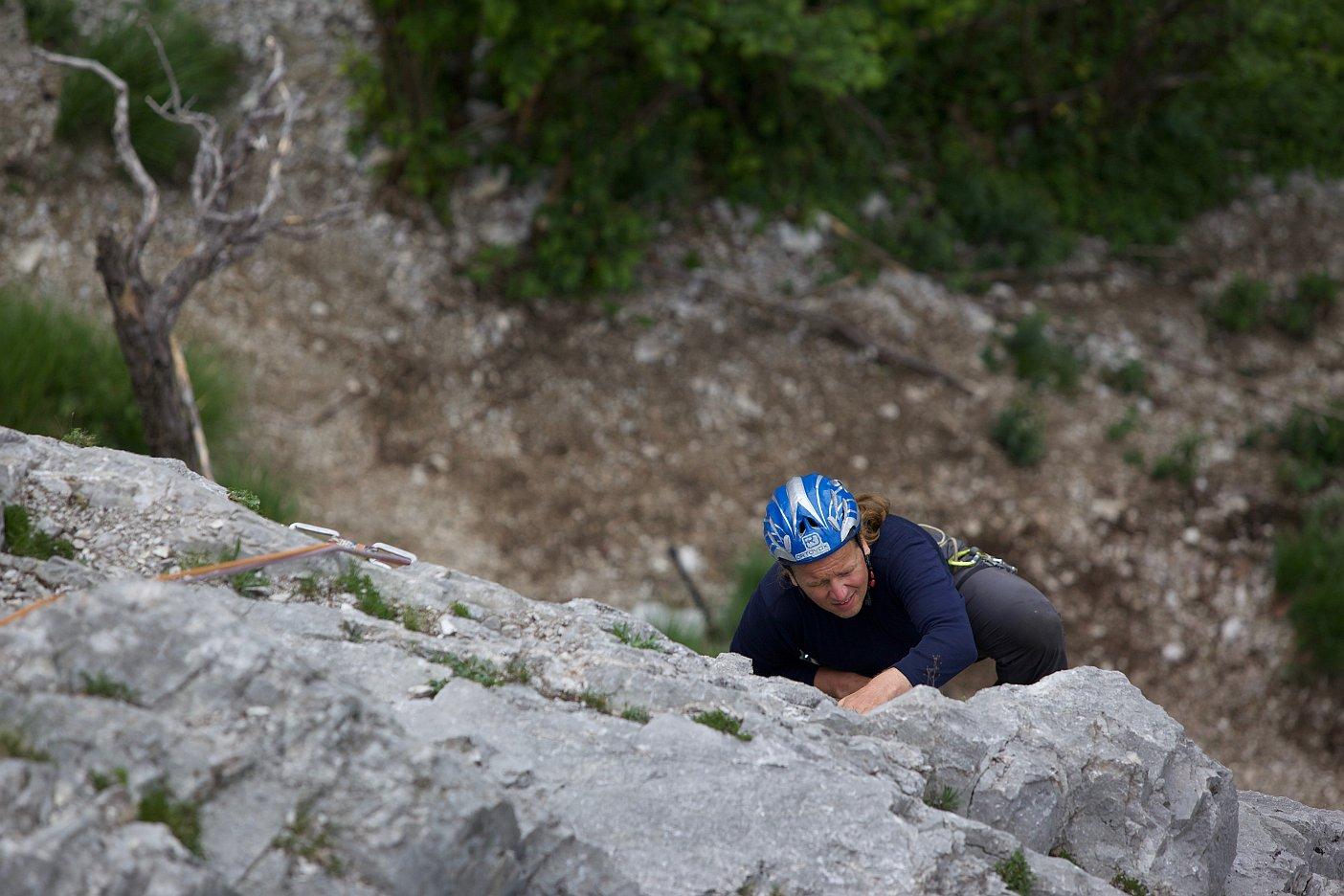 Andy Holzer in der zweiten Seillänge, Climbers ParadiseAndy Holzer in der zweiten Seillänge, Climbers Paradise