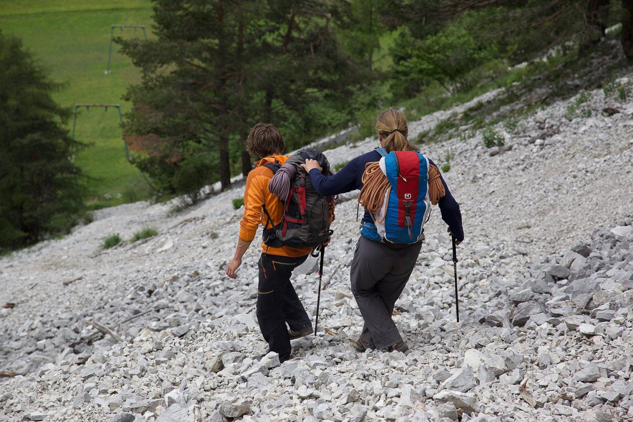 Abstieg mit Andy Holzer im Klettergarten Nassereith