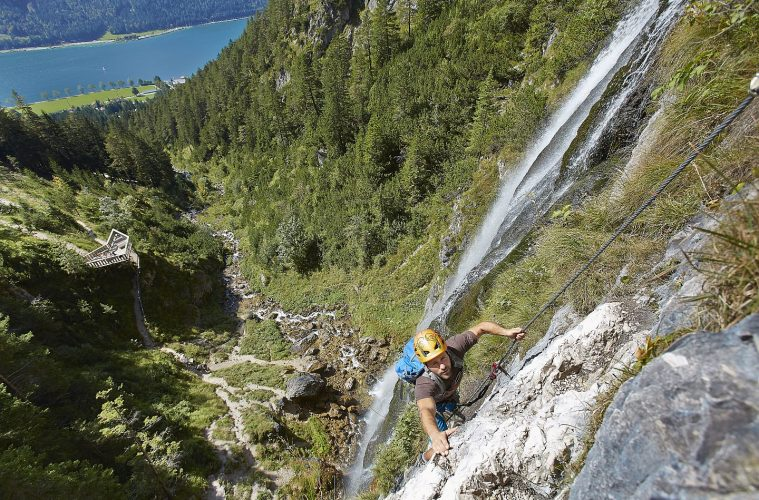 Klettersteig Buchau beim Achensee, Foto: Achensee Tourismus | Climbers Paradise