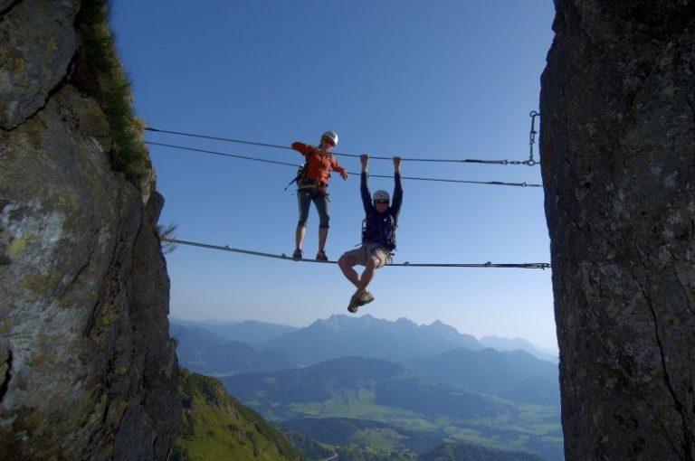 Panorama-Klettersteig, Fieberbrunn, Foto: Niederwieser   Climbers Paradise