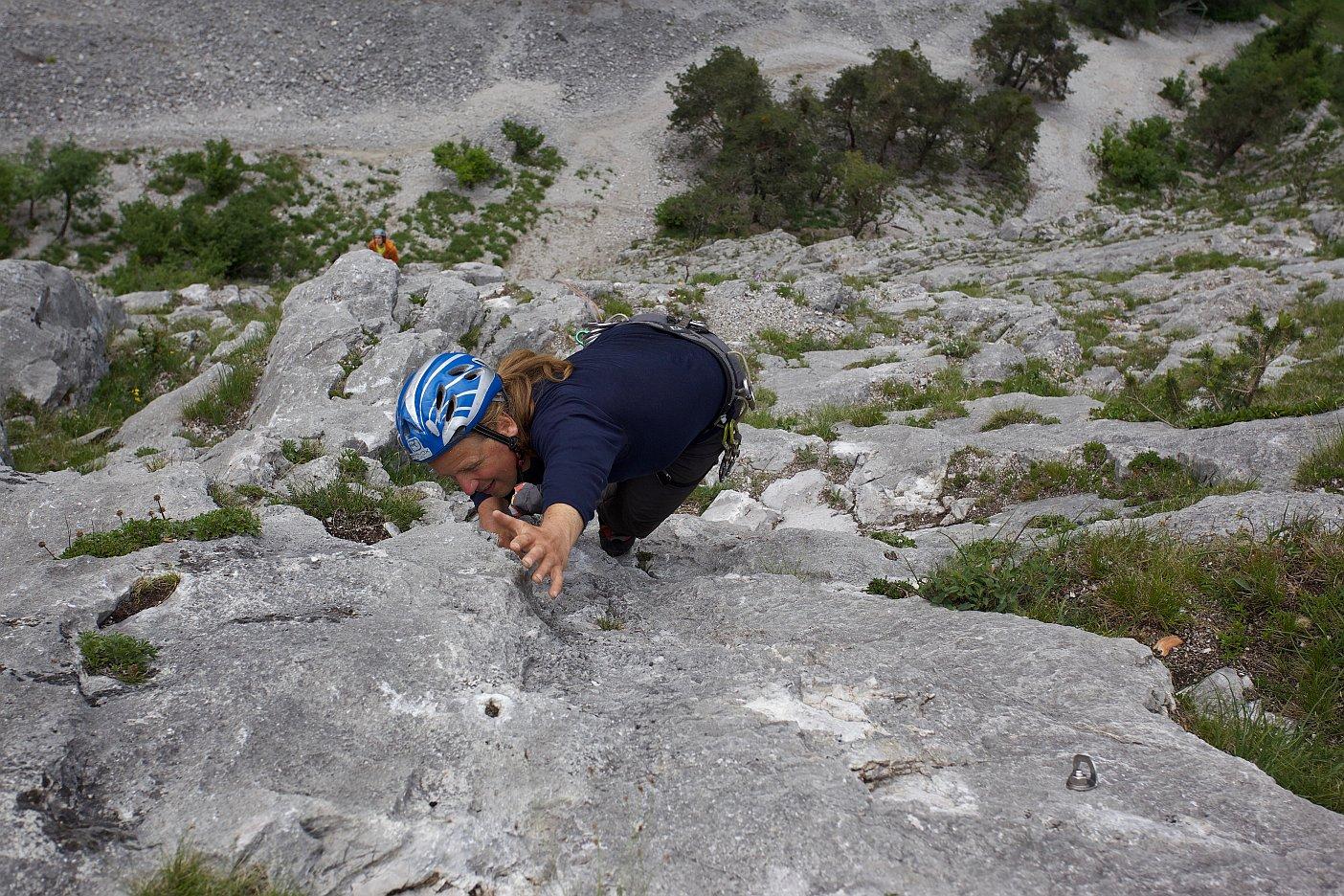 Andy Holzer im Vorstieg, Climbers Paradise