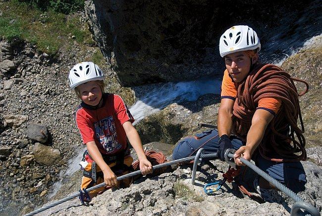 Klettersteig bei der Muttkopfhütte, Foto: Imst Tourismus | Climbers Paradise