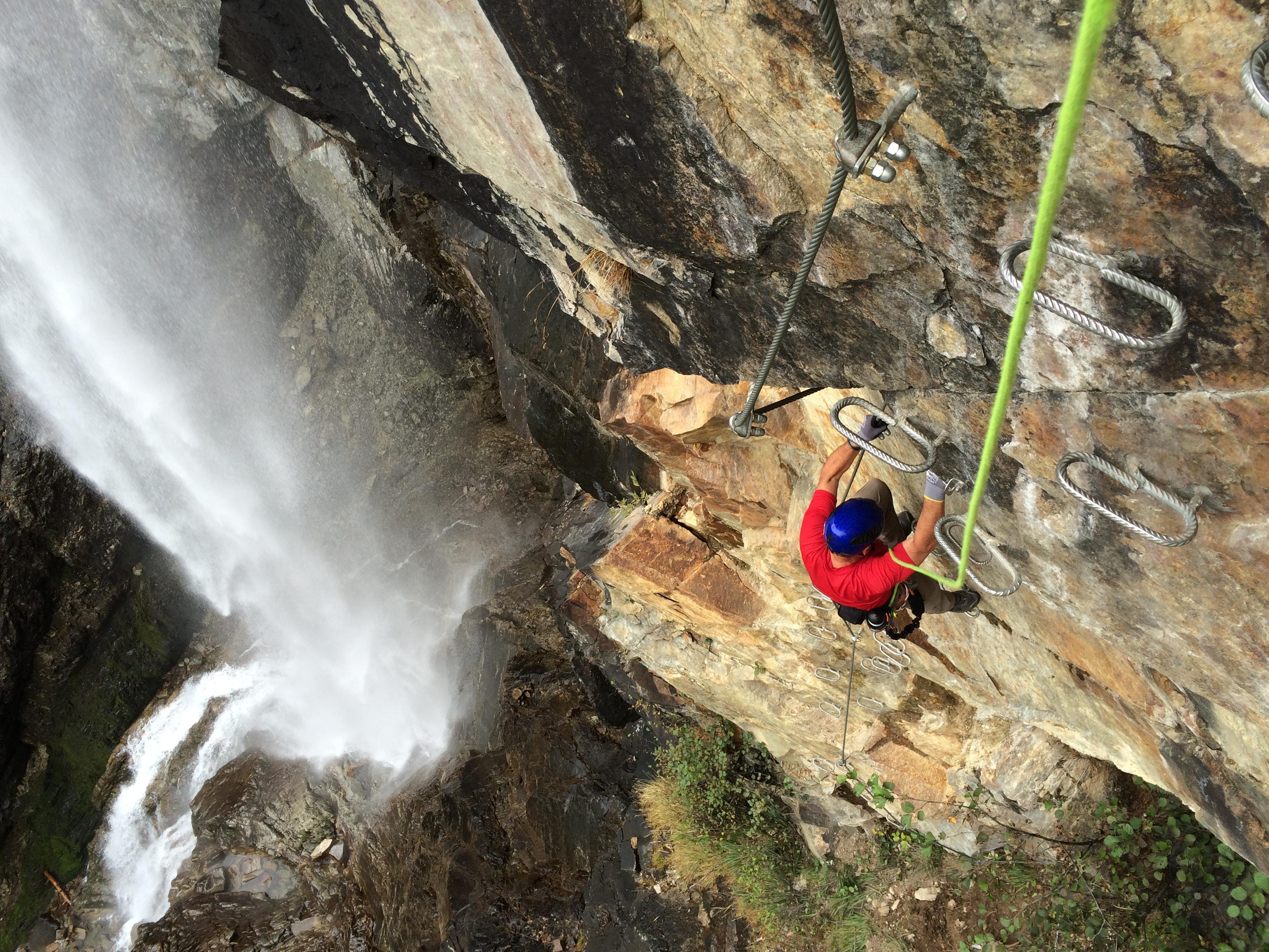 Klettersteig Lehner Wasserfall : Klettersteig lehner wasserfall climbers paradise