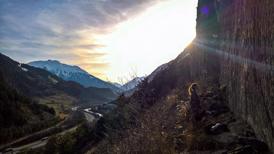 Klettergarten Starkenbach, Sonnenuntergang | Climbers Paradise
