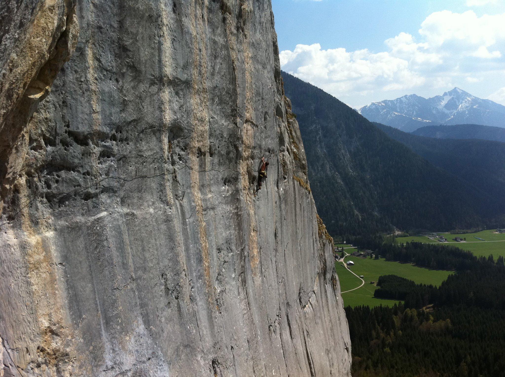 Klettergarten Chinesische Mauer, Wilde Mändle (7a) im Sektor Hongkong