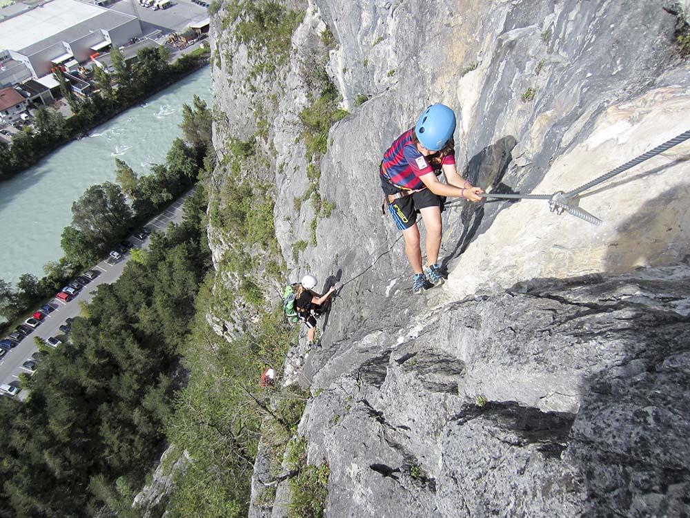 Klettersteig Galugg in der Ferienregion Tirol West