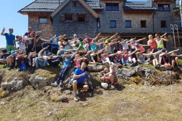 Begeisterung der SchülerInnen der NMS Gabelsberger auf der Erfurter Hütte.