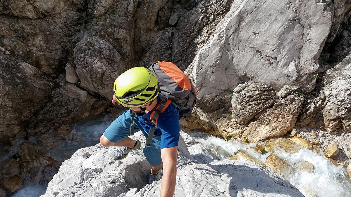Klettern an der Mieminger Kette, Abstieg vom