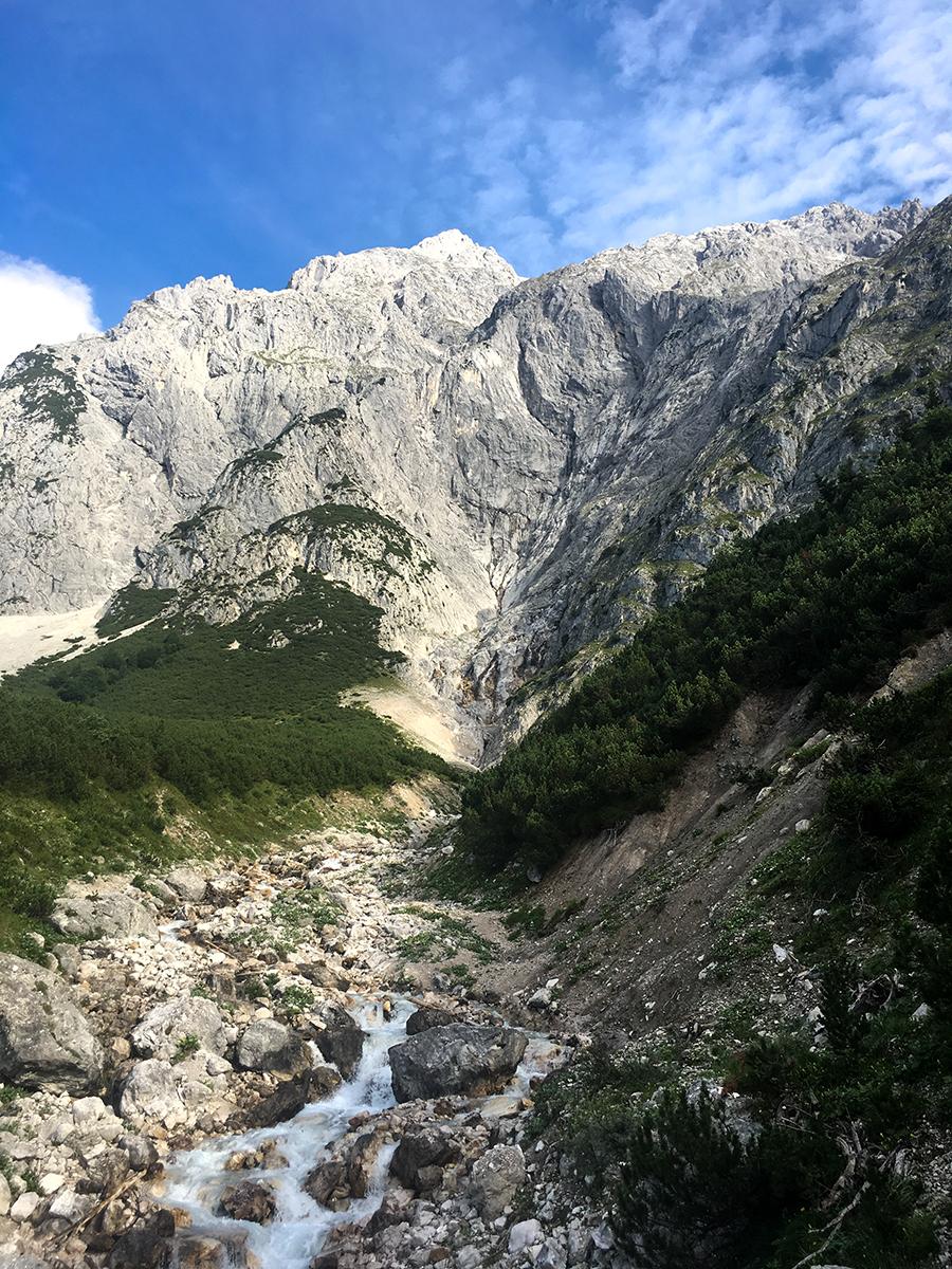 Klettern an der Mieminger Kette, Blick zum