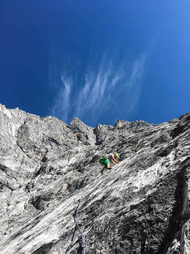 Klettern an der Mieminger Kette, Kalkfelsen am