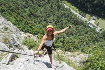 Blick nach unten vom Kaiser-Max-Klettersteig | Climbers Paradise