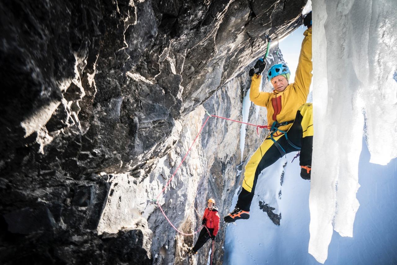 Eisklettern im Pinnistal, Foto: Stefan Voitl, www.voi.tl/