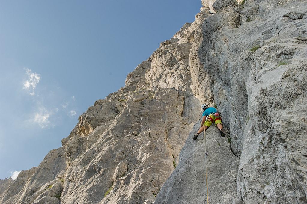 Die Karlsspitze entlang der Wirtskante, Foto: Roland Schonner, TVB Wilder Kaiser | Climbers Paradise