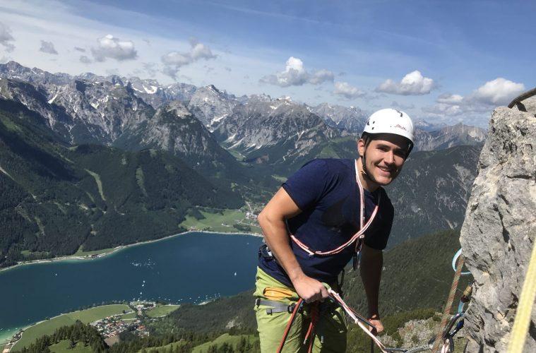 Klettern an der Rotspitze beim Achensee, Foto: Achensee Tourismus | Climbers Paradise
