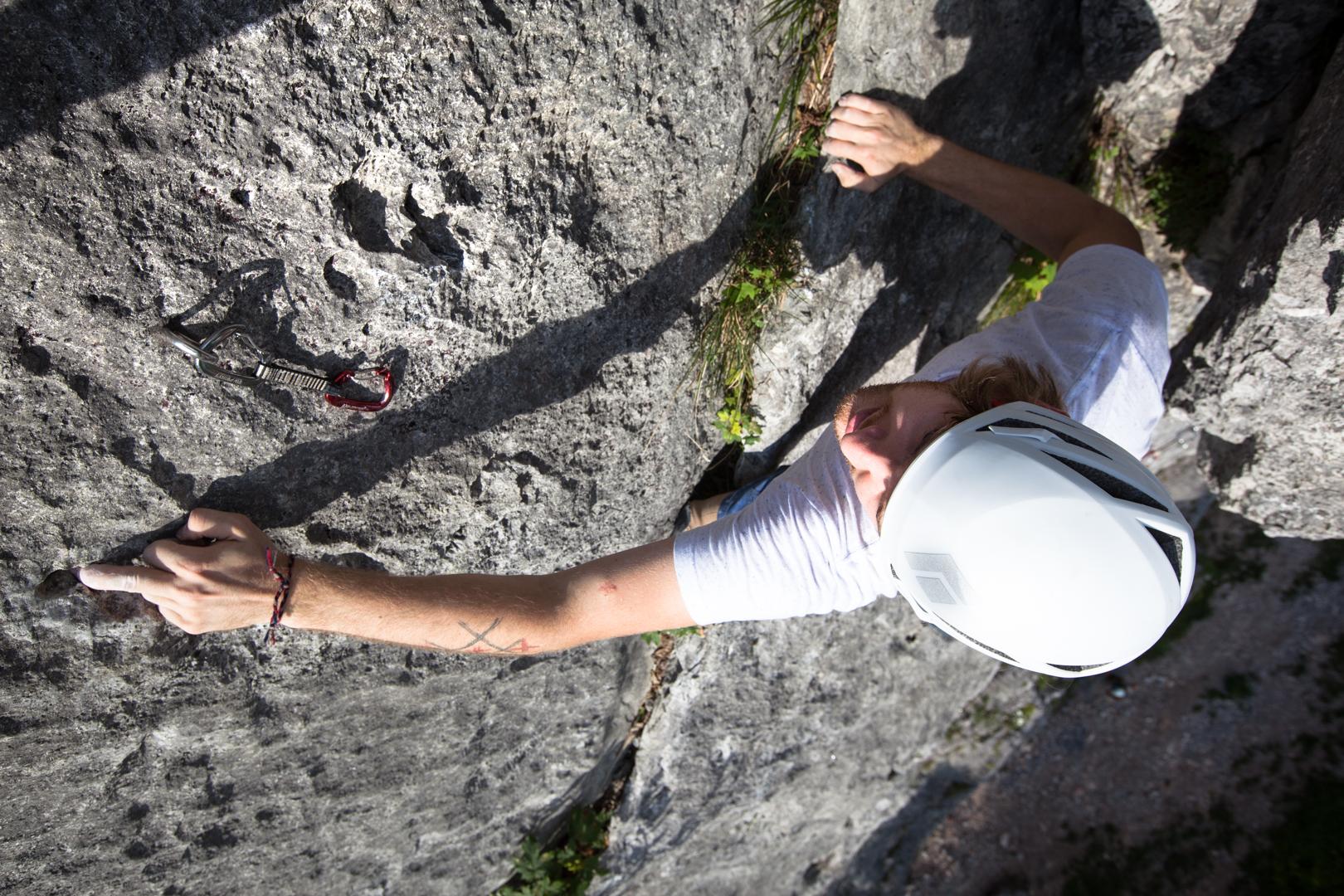Alex Straif beim Klettern Foto: Tobias Attenberger   Climbers Paradise