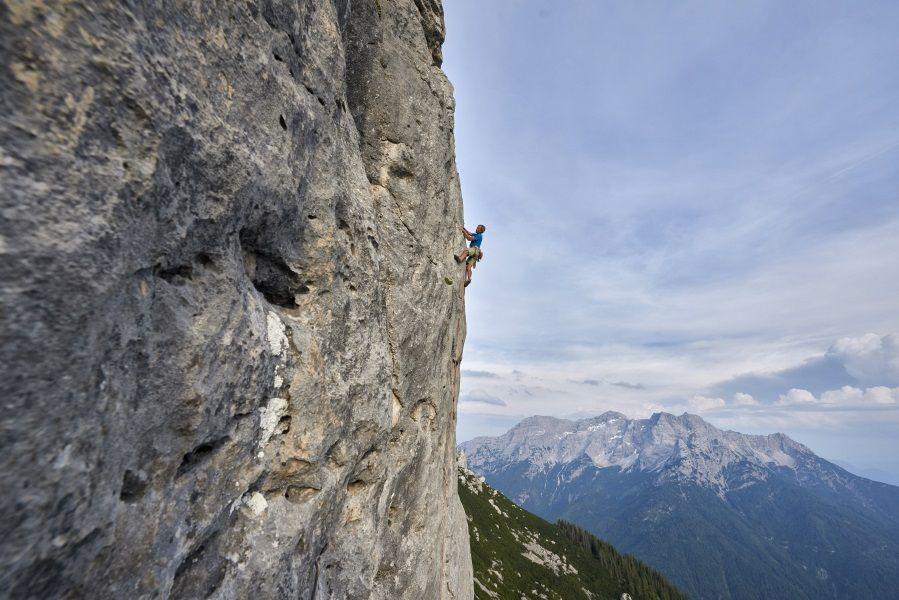 Klettern an der Waidringer Steinplatte, Foto: Michael Meisl | Climbers Paradise