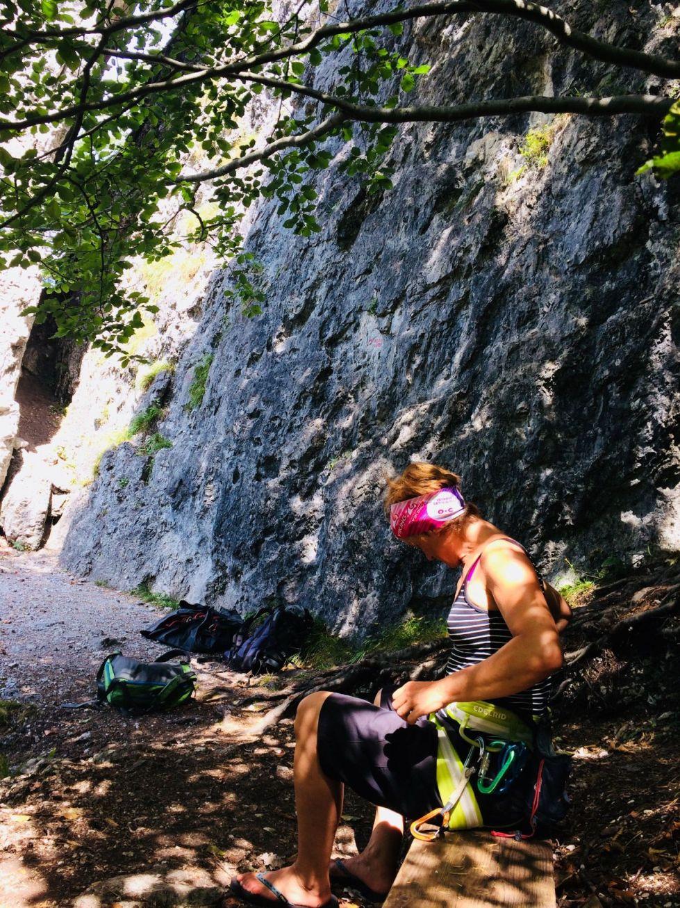 Lauschiges Plätzchen an der hinteren Wand/Klobental | Climbers Paradise