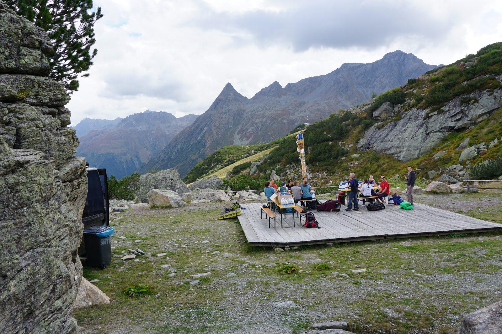 Pause bei der Exkursion im Silvapark | Climbers Paradise