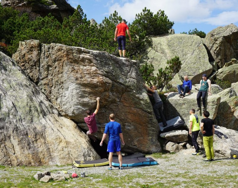 Exkursion zum Bouldern im Silvapark im Rahmen der Kletter WM 2018   Climbers Paradise