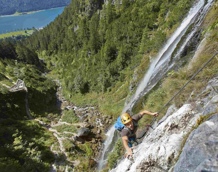 Klettersteig Buchau, Foto: Achensee Tourismus   Climbers Paradise