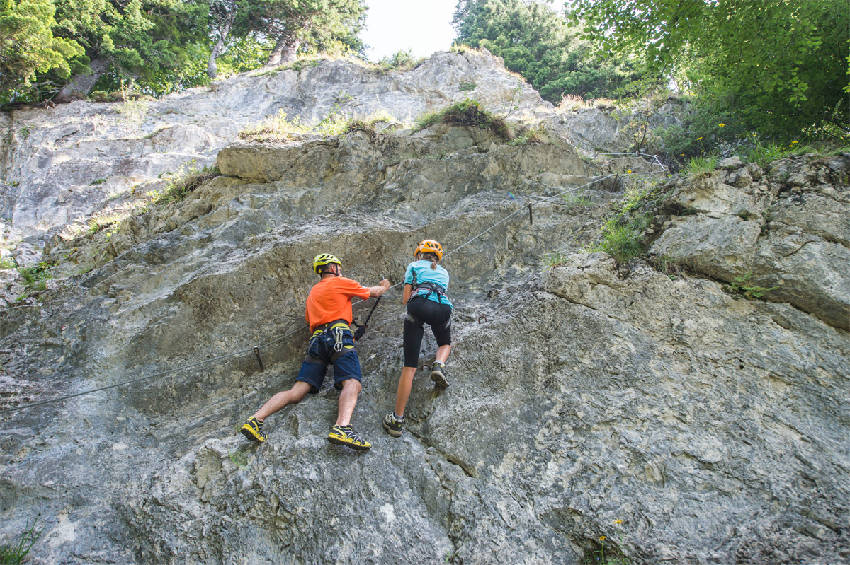 Übungsklettersteig am Wilden Kaiser, Foto: Peter von Felbert | Climbers Paradise
