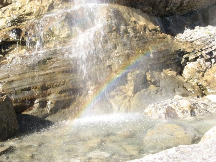 Wasserfall beim Klettersteig Muttekopfhuette | Climbers Paradise