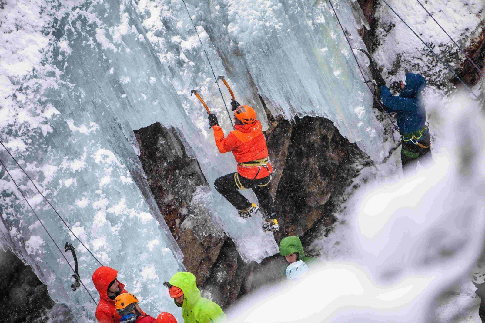 Eisklettern im Pitztal beim Eis Total Kletter-Festival, Foto: TVB Pitztal | Climbers Paradise