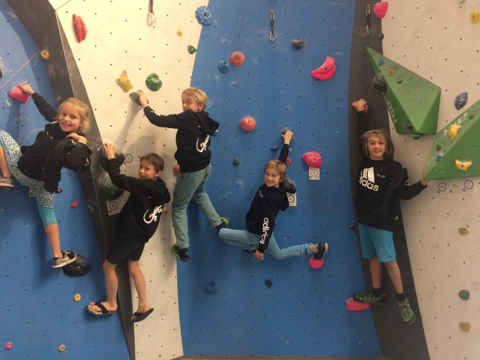 Kinder haben grundsätzlich immer Spaß am Klettern, hier in der Bergstation Telfs. Foto: Matthias Bader