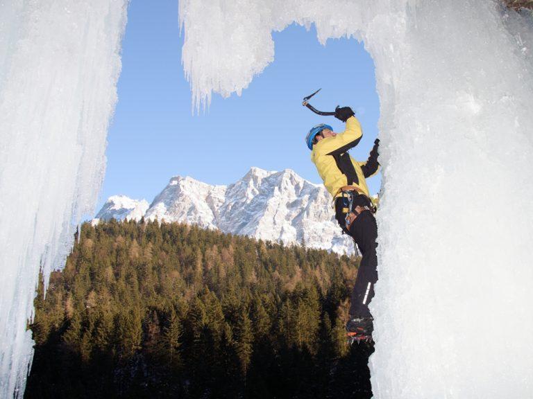 Klettern am Häselgehr-Eisfall | Climbers Paradise
