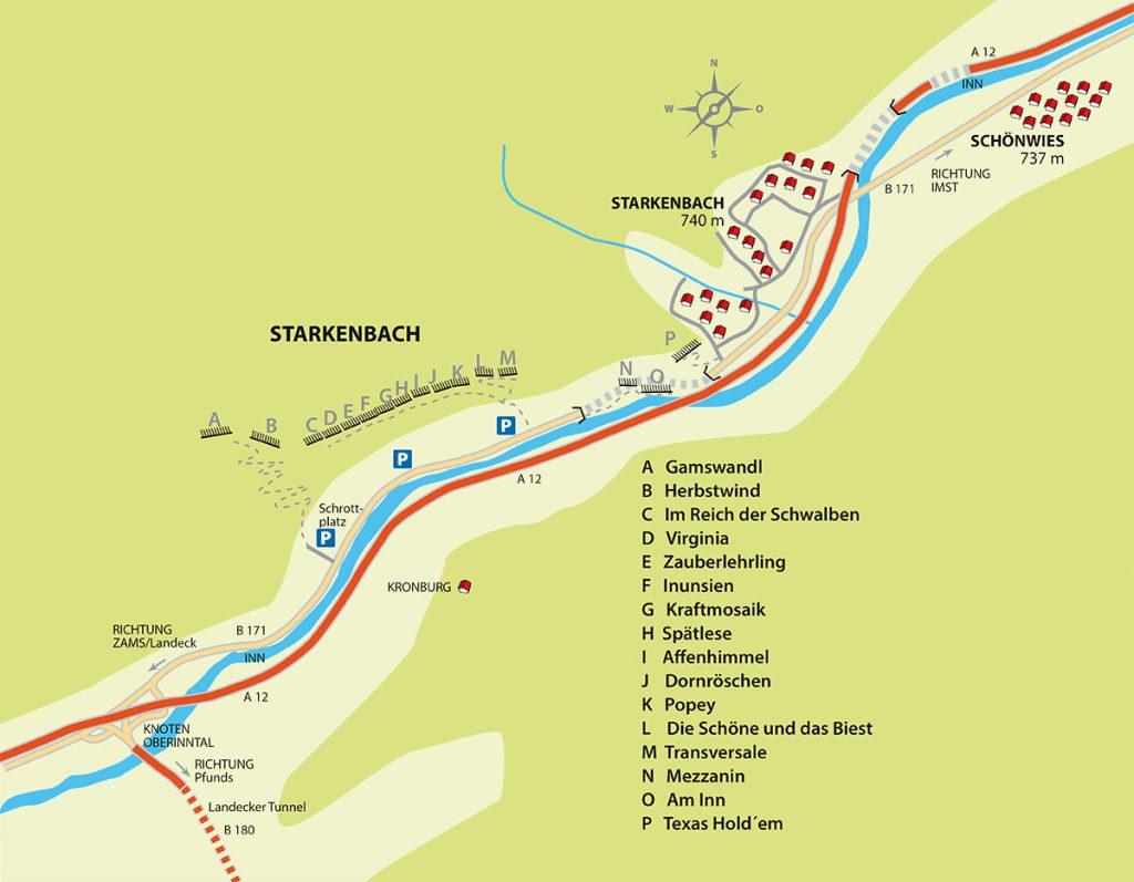 Klettergebiet Starkenbach - insgesamt 16 Sektoren mit über 300 Routen landen auch im Winter zum Klettern ein | Climbers Paradise