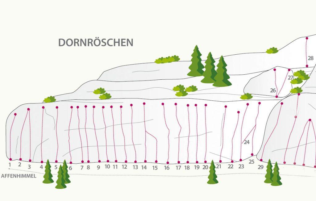 Starkenbach, Sektor Dornröschen | Climbers Paradise