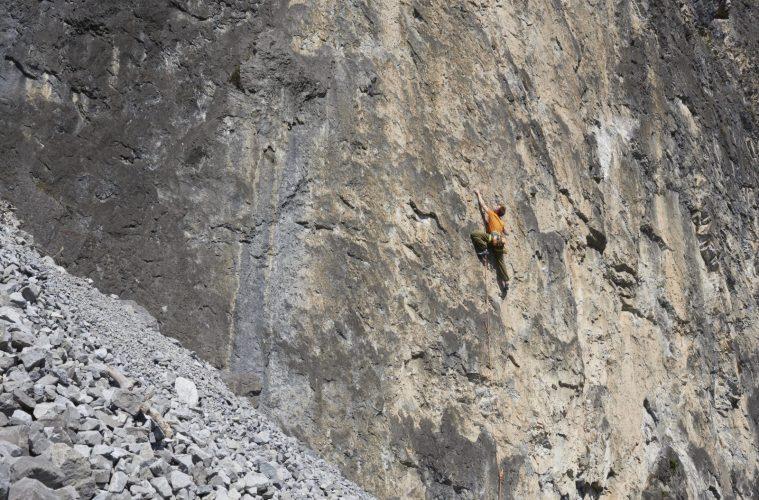 Klettergebiet Starkenbach: die Sonnenwände eignen sich auch im Winter perfekt fürs Klettern. Foto: Michael Meisl | Climbers Paradise