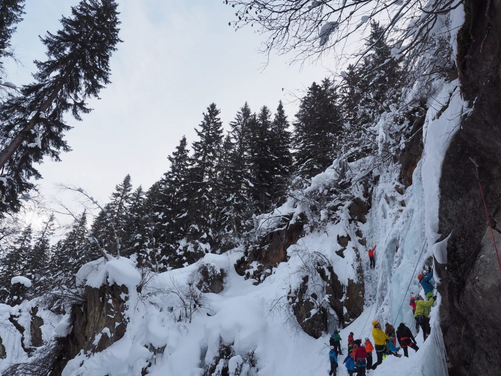 "Das Eiskletter-Festival ""Eis Total"", Foto: Bernhard Daurer | Climbers Paradise"