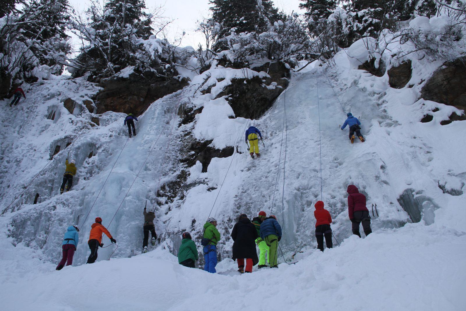 "Teilnehmer beim ""Eis Total"", Foto: Bernhard Daurer | Climbers Paradise"