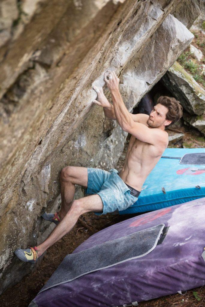 Patrick von Brül im Lands of Giants im Ötztal, Foto: Dominik Hadwiger | Climbers Paradise