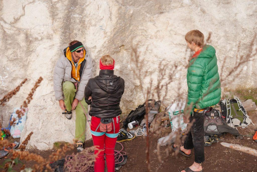 Treffpunkt bei der Martinswand bei Innsbruck, Foto: Simon Schöpf | Climbers Paradise