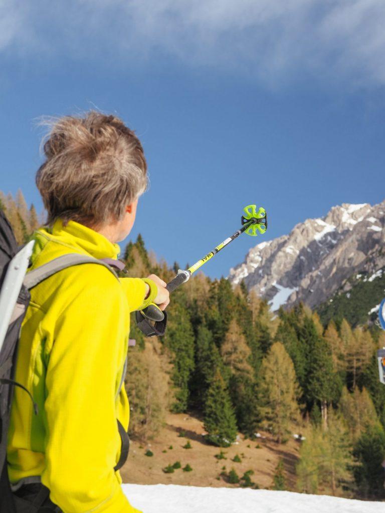 Bergführer Alfred Flür weist den Weg beim Ski & Climb, Foto: Simon Schöpf | Climbers Paradise
