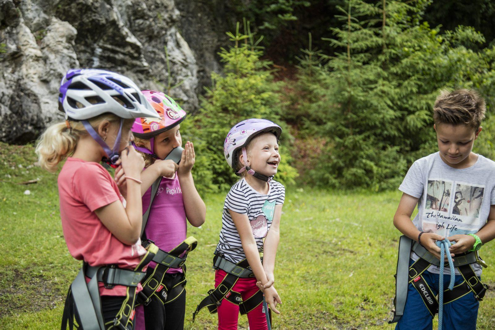 Klettern mit Kindern beim Haselgrund, Foto: Defrancesco   Climbers Paradise