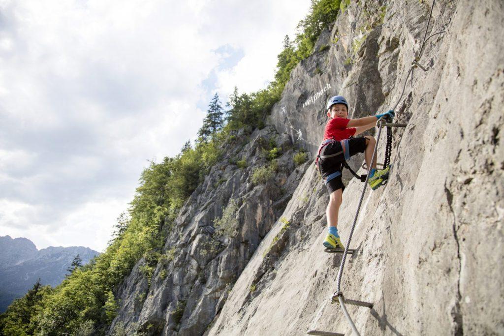 Klettersteig für Familien, Foto: Defrancesco | Climbers Paradise
