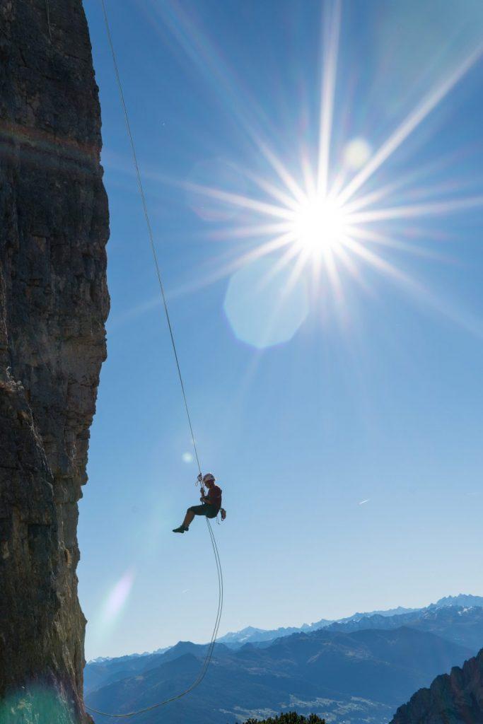 Mehrseillängen klettern an der Rotspitz, Foto: Achensee Tourismus | Climbers Paradise