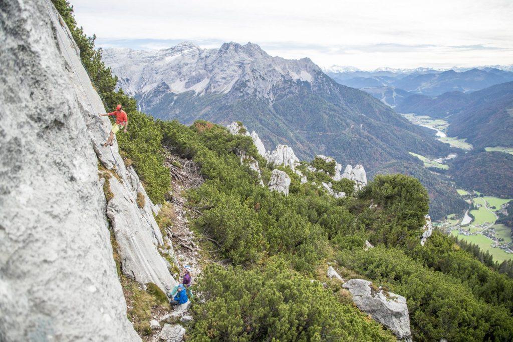 Kletterroute bei der Steinplatte, Foto: Defrancesco | Climbers Paradise