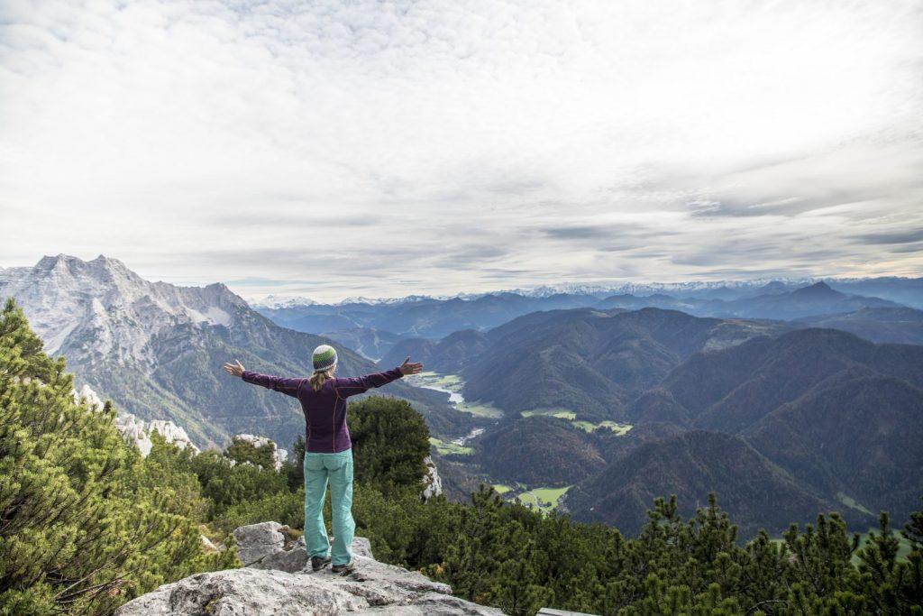 Panorama-Genuss an der Steinplatte, Foto: Defrancesco | Climbers Paradise