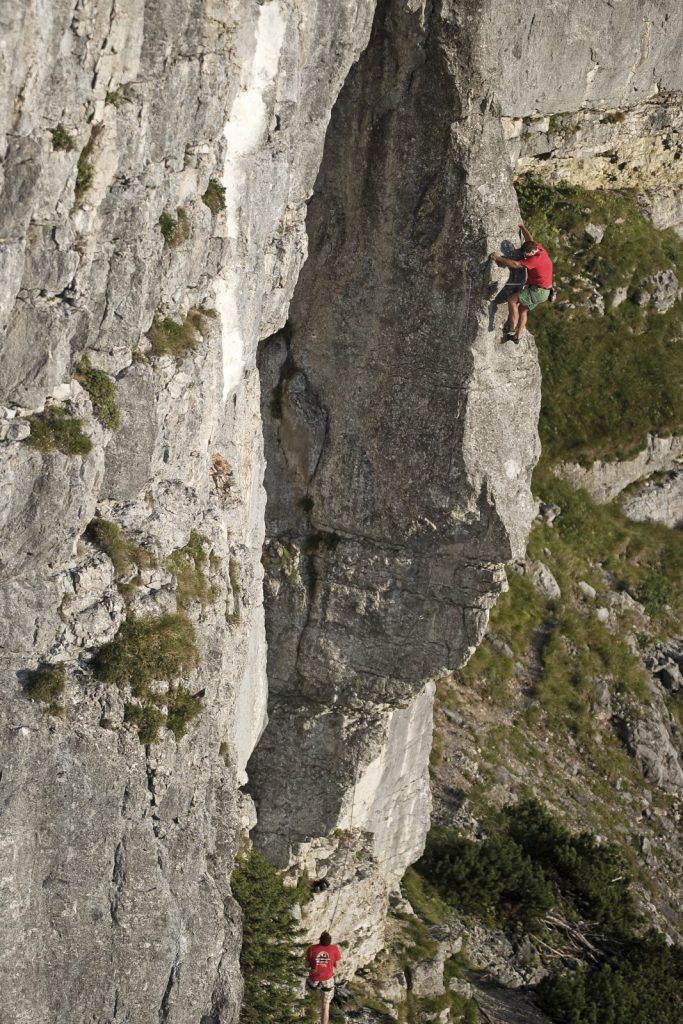 Klettern an der Steinplatte, Foto: Jörg Mitter | Climbers Paradise