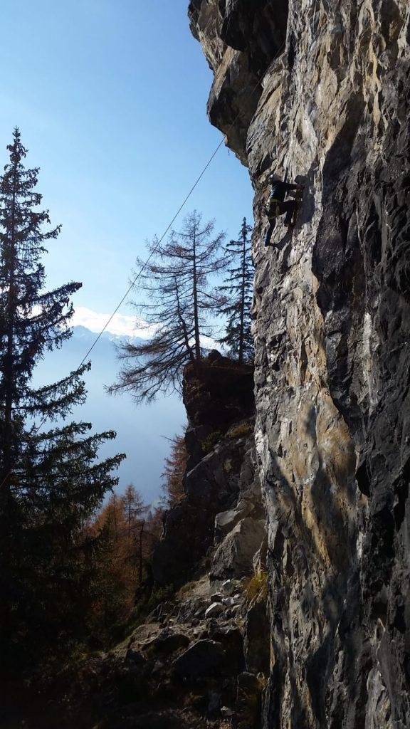 Die Felsstruktur des Falkensteins in Osttirol, Foto: Susa Schreiner | Climbers Paradise