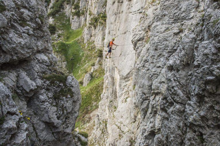 Der Klettersteig Klamml, Foto: Peter von Felbert   Climbers Paradise