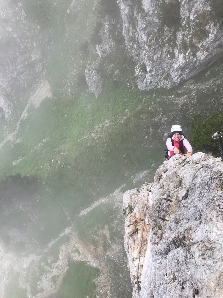 Eine Steilpassage beim Klettersteig Klamml | Climbers Paradise