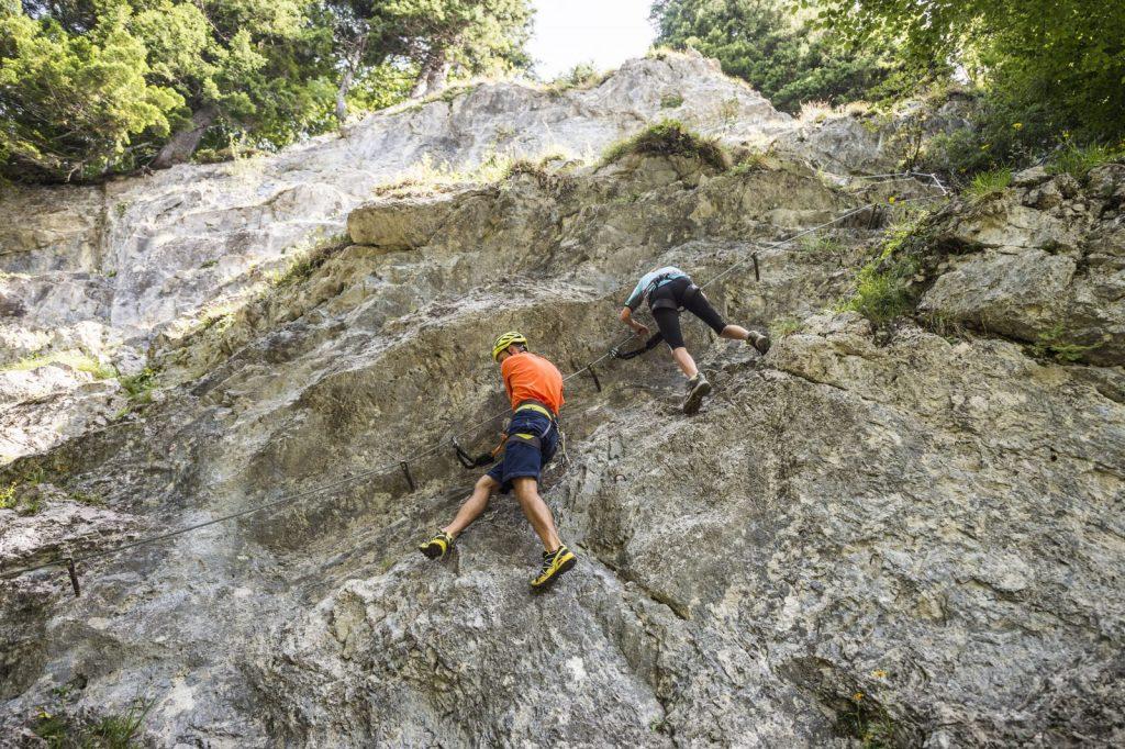 Ein Übungsklettersteig beim Wilden Kaiser, Foto: Peter von Felbert | Climbers Paradise