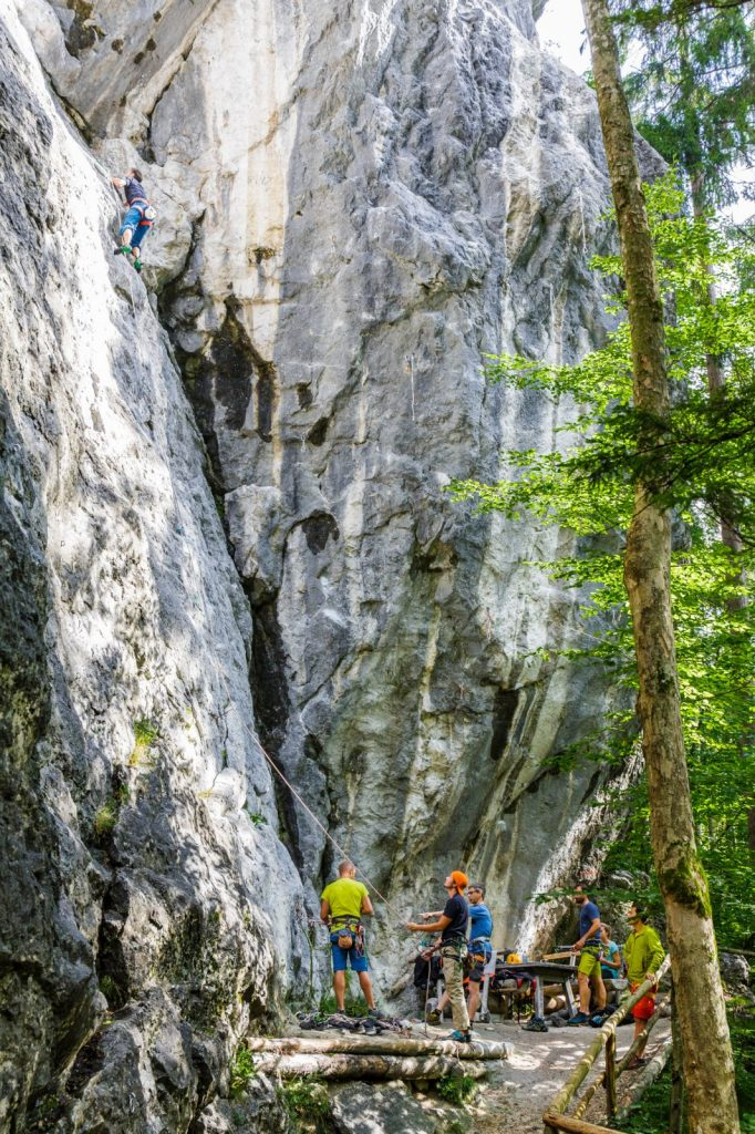 Der Klettergarten Morsbach bei Kufstein, Foto: Klettercamp Salewa Ebbs, Sportalpen Marketing | Climbers Paradise