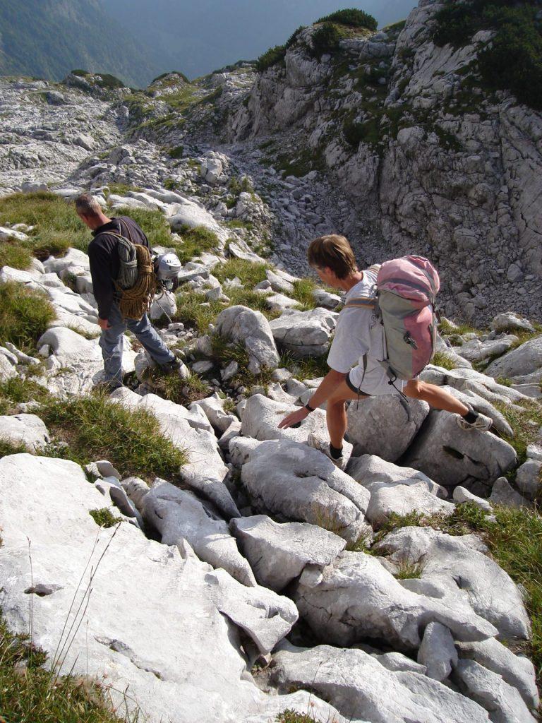 Der Abstieg von der Route EndeNie, Foto: Thomas Schöpf | Climbers Paradise