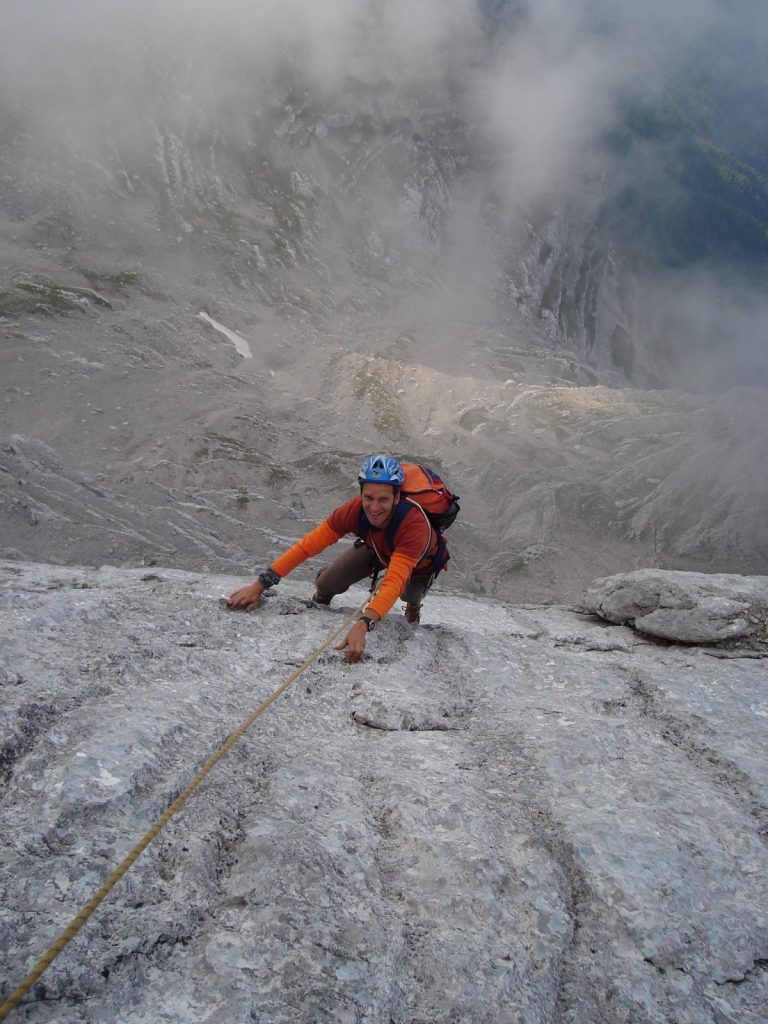 Ausdauerndes Mehrseillängen-Klettern in den Loferer Steinbergen, Foto: Thomas Schöpf | Climbers Paradise